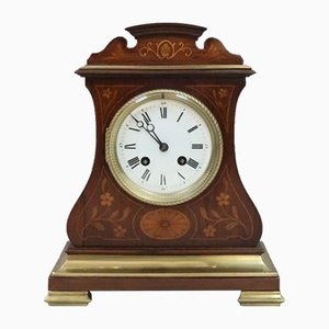 French Belle Epoque Rosewood Mantel Clock from A.D. Mougin, 1900s