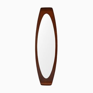 Curved Wood Mirror by Campo & Graffi for Home, 1950s