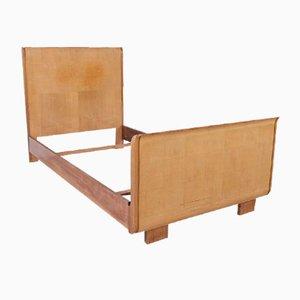 Sofá cama Art Déco de madera nudosa, años 30