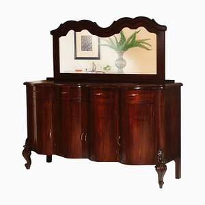 Antique Mirror & Walnut Sideboard from Testolini & Salviati