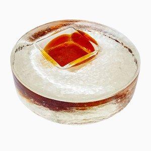 Fermacarte in vetro di Leucos, anni '70