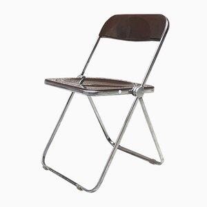Italienischer Vintage Modell Plia Stuhl von Giancarlo Piretti für Castelli / Anonima Castelli