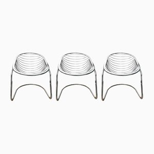 Vintage Egg Chairs by Gastone Rinaldi for Rima, Set of 3