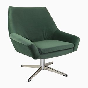 Green Swivel Chair by VEB Metallwaren Naumburg, 1980s