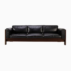 Bastiano Leather Sofa by Tobia & Afra Scarpa, 1960s