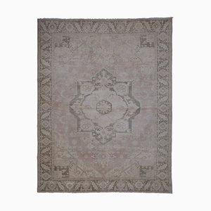 Vintage Hand Knotted Floor Rug with Neutral Colors