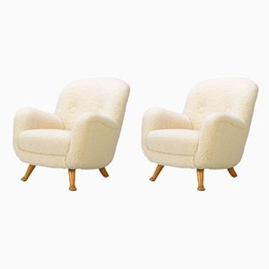 Lounge Chairs from Berga Möbler, 1940s, Set of 2