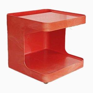 Orangefarbener Beistelltisch von Marcelo Siard für Longato, 1970er
