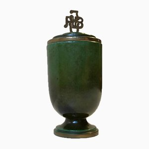 Dispensatore Art Deco in bronzo di Ildfast, anni '40