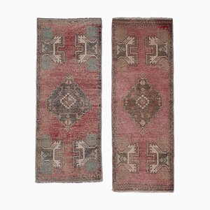 Distressed Turkish Small Rugs, 1970s, Set of 2