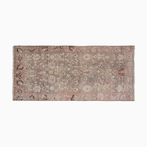Distressed Turkish Karapinar Runner Rug with Floral Pattern