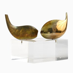 Modernist Bronze Sculpture by Serge Mansau for Monique Gerber, 1970s