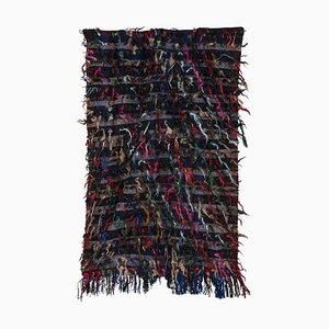 Vintage Colorful Turkish Shaggy Rug