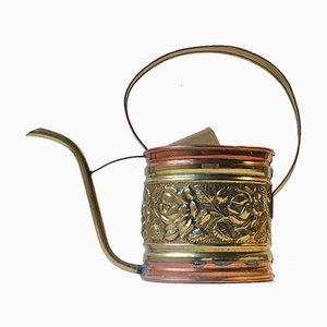 Antique Watering Can in Copper and Brass
