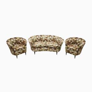 Petit Canapé et 2 Chaises par Gio Ponti pour Casa & Giardino, 1950s
