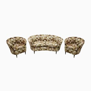 Small Sofa & 2 Chairs by Gio Ponti for Casa & Giardino, 1950s