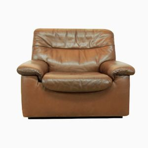 Mid Century Leather Armchair from De Sede