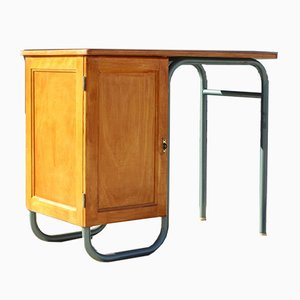 Vintage French Master's Desk by Jacques Hitier for Mobilor, 1950s