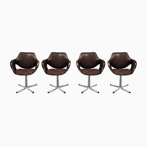Chaises de Salon Boris Tabacoff Vintage, 1960s, Set de 4