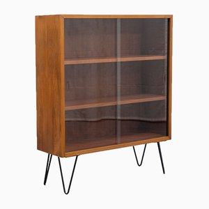 Glass and Walnut Cabinet, 1960s