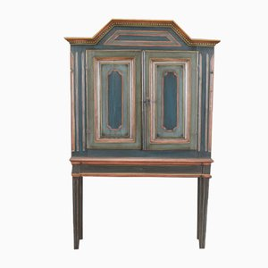Danish Special Art Painted Cabinet, 1850s