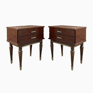 Vintage Wood Nightstands, 1970s, Set of 2