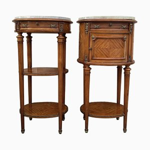 Antique Bedside Cabinets, Set of 2