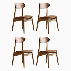 Dining Chairs by Sven Erik Fryklund for Hagafors, 1960s, Set of 4
