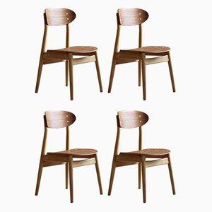 Esszimmerstühle von Sven Erik Fryklund für Hagafors, 1960er, 4er Set