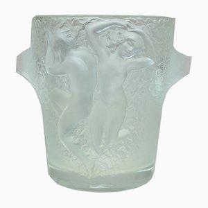French Model Ganymède Ice Bucket by René Lalique, 1950s