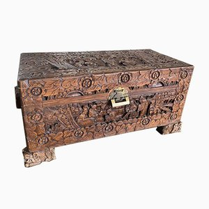 Chinese Camphor Storage Trunk, 1930s