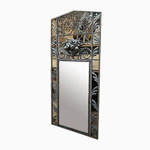 Art Deco Wrought Iron Mirror, 1930s