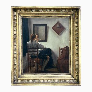 Pintura al óleo sobre panel de Jan Ekels