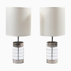 Mid-Century Italian Lucite Table Lamps, 1970s, Set of 2