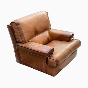 Armchair in Leather from Roche Bobois, France, 1970s