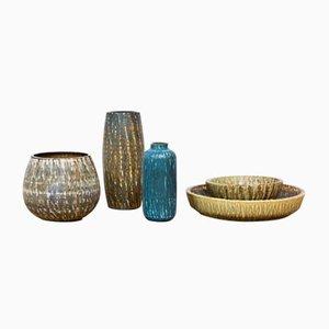 Rubus Ceramics by Gunnar Nylund for Rörstrand, 1950s, Set of 5