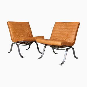 Model Ariet Lounge Chairs by Arne Norell, 1970s, Set of 2