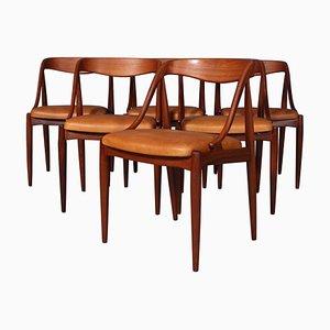 Mid-Century Dining Chair by Johannes Andersen for Uldum Møbelfabrik, Set of 6