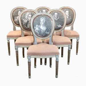 Louis XVI Jacques Grange Chairs, Set of 6