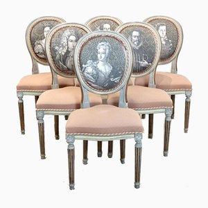Sillas Louis XVI Jacques Grange. Juego de 6