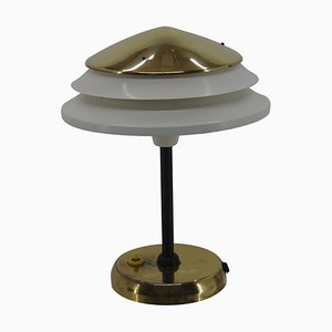 Table Lamp in Brass and Metal from Zukov, Czechoslovakia, 1950s