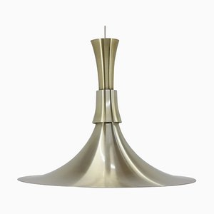 Aluminium Pendant Lamp by Bent Nordsted for Lyskaer Belysning, Denmark, 1960s
