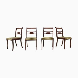 Art Deco Dining Chairs, 1940s, Set of 4