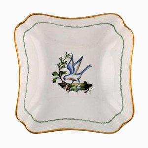 Royal Copenhagen Schale aus handbemaltem Porzellan mit Vogelmotiv