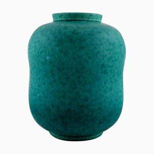 Art Deco Argenta Vase in Glazed Ceramic by Wilhelm Kåge for Gustavsberg, 1940s