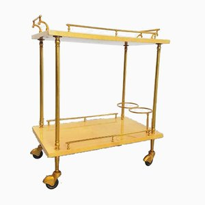 French Neoclassicism Style Brass Trolley
