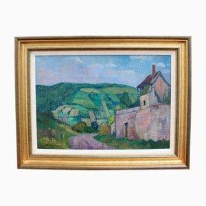 Landschaft mit Haus in der Cote d'Or 'von André Maire, 1960