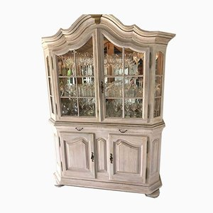 Display Cabinet in Solid Oak Wood with Lighting