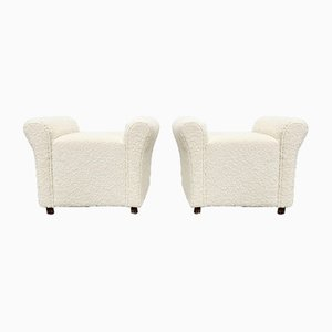 French Footstools or Poufs, 1960s, Set of 2