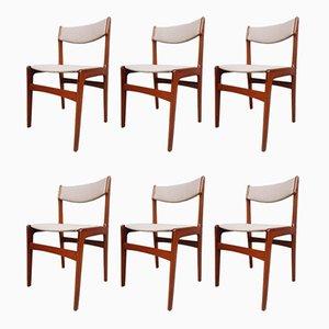 Mid-Century Danish Teak Dining Chairs by Erik Buch, Set of 6